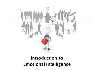Online Leadership Training, Introduction to Emotional Intelligence