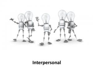 Online Leadrship Training, Interpersonal