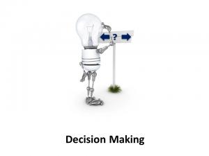 Online Leadership Training, Decision Making