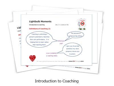 Lightbulb Moments cards - Coaching