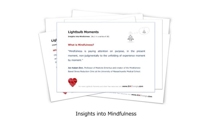 Lightbulb moments, Insights into Mindfulness